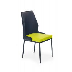 K199 krzesło limonkowo-czarny - Halmar