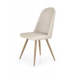 K214 krzesło ciemny kremowy / dąb miodowy - Halmar