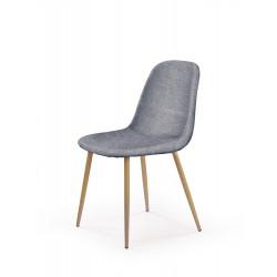 K220 krzesło tapicerka - popiel, nogi - dąb miodowy - Halmar