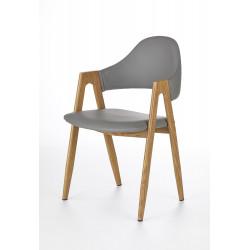 K247 krzesło popiel-dąb miodowy - Halmar