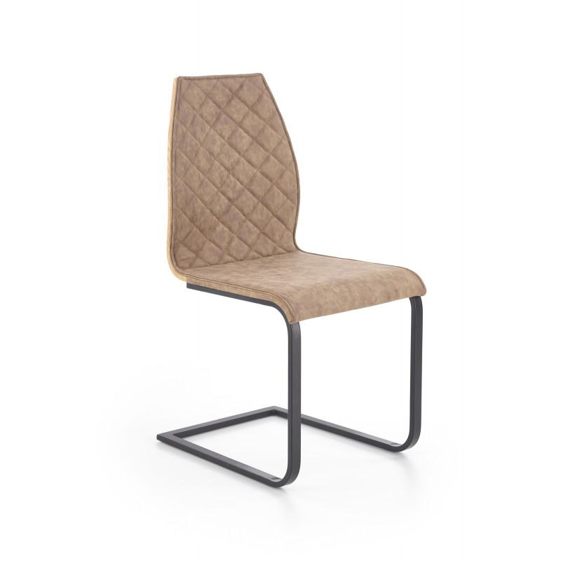 K265 krzesło czarny / brązowy / dąb miodowy - Halmar