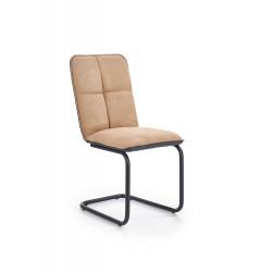 K268 krzesło jasny brąz / czarny - Halmar