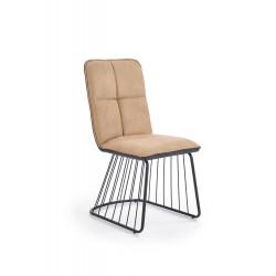 K269 krzesło jasny brąz / czarny - Halmar