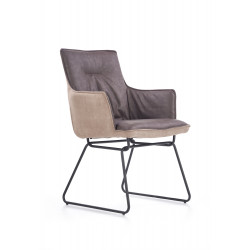 K271 krzesło ciemny popiel / jasny popiel - Halmar