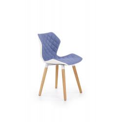 K277 krzesło biało / niebieskie - Halmar