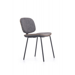 K278 krzesło popielaty / czarny - Halmar