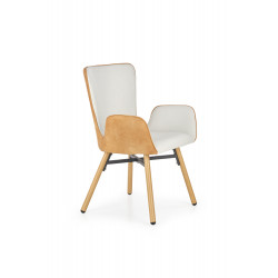 K286 krzesło jasny popiel / jasny brąz - Halmar