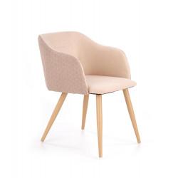 K288 krzesło jasny brąz / beżowy ( 1p2szt) - Halmar