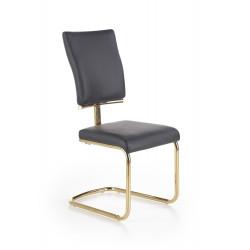 K296 krzesło czarny / złoty chrom - Halmar