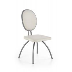 K297 krzesło jasny popiel / chrom - Halmar
