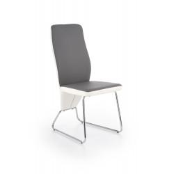 K299 krzesło tył - biały, przód - popiel, stelaż - chrom - Halmar