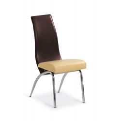 K2 krzesło beżowy-ciemny brąz - Halmar