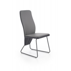 K300 krzesło tył - czarny, przód - popiel, stelaż - super grey - Halmar