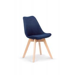 K303 krzesło ciemny niebieski / buk - Halmar