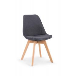 K303 krzesło ciemny popiel / buk - Halmar