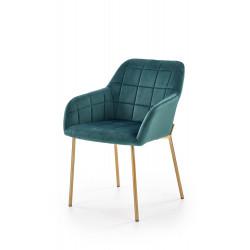 K306 krzesło złoty / ciemny zielony - Halmar