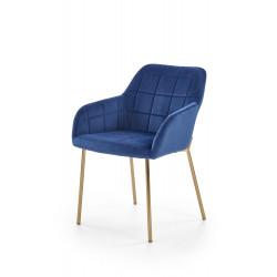 K306 krzesło złoty / granatowy - Halmar