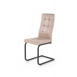 K310 krzesło stelaż - czarny, tapicerka - beżowa - Halmar