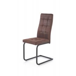 K310 krzesło stelaż - czarny, tapicerka - c. brąz - Halmar