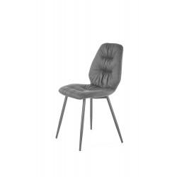 K312 krzesło nogi - czarne, tapicerka - popiel - Halmar