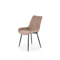 K313 krzesło nogi - czarne, tapicerka - brązowa - Halmar