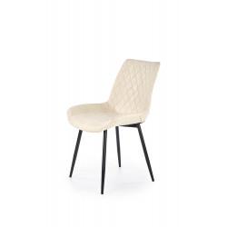 K313 krzesło nogi - czarne, tapicerka - kremowa - Halmar