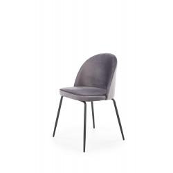 K314 krzesło nogi - czarne, tapicerka - c. popielaty - Halmar