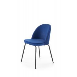 K314 krzesło nogi - czarne, tapicerka - granatowy - Halmar