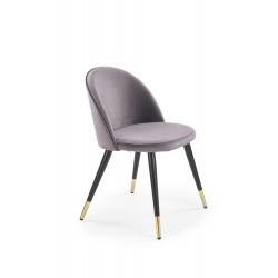 K315 krzesło nogi - czarny / złoty, tapicerka - c. popiel - Halmar