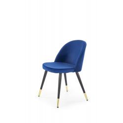 K315 krzesło nogi - czarny / złoty, tapicerka - granatowa - Halmar