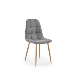 K316 krzesło tapicerka - popielata, nogi - dąb miodowy - Halmar
