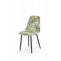 K317 krzesło tapicerka - wielobarwny, nogi - czarny - Halmar