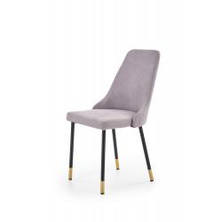 K318 krzesło tapicerka - popielaty, nogi - czarny / złoty - Halmar
