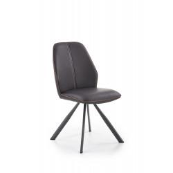 K319 krzesło brązowy / czarny - Halmar
