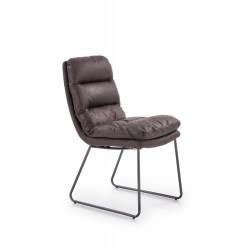 K320 krzesło stelaż - antracytowy, tapicerka - ciemny popiel - Halmar