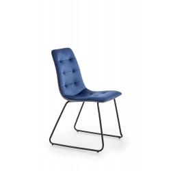 K321 krzesło stelaż - czarny, tapicerka - granatowy / popielaty - Halmar