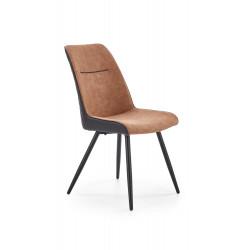 K323 krzesło brązowy / czarny - Halmar