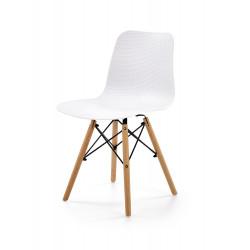 K325 krzesło PP biały, nogi - buk - Halmar