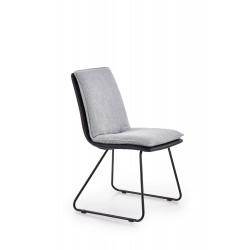 K326 krzesło stelaż - czarny, tapicerka - jasny popiel / czarny - Halmar