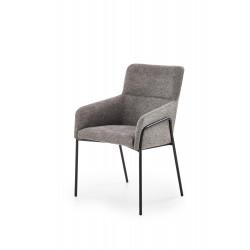 K327 krzesło stelaż - czarny, tapicerka - popielaty - Halmar
