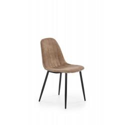 K328 krzesło nogi - czarny, tapicerka - ciemny beż - Halmar