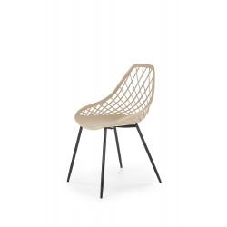 K330 krzesło nogi - czarne, siedzisko - beżowe - Halmar