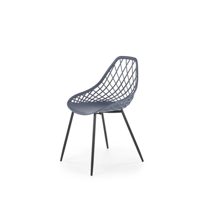K330 krzesło nogi - czarne, siedzisko - ciemny popiel - Halmar