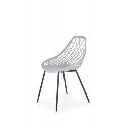 K330 krzesło nogi - czarne, siedzisko - jasny popiel - Halmar