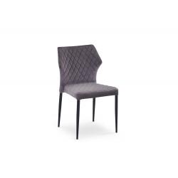 K331 krzesło nogi - czarne, siedzisko - ciemny popiel - Halmar
