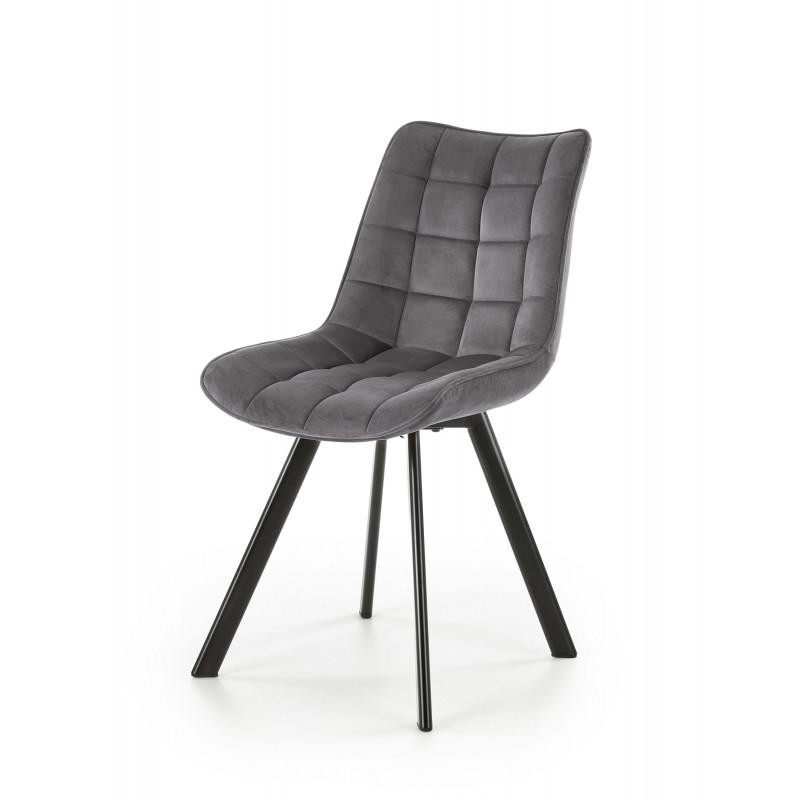 K332 krzesło nogi - czarne, siedzisko - ciemny popiel - Halmar