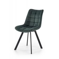 K332 krzesło nogi - czarne, siedzisko - ciemny zielony - Halmar