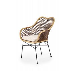 K336 krzesło rattan naturalny - Halmar