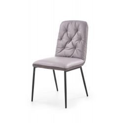 K340 krzesło jasny popiel / popiel - Halmar