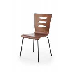 K355 krzesło nogi - czarne, sklejka - orzech - Halmar
